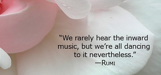 Music dancing rumi quote