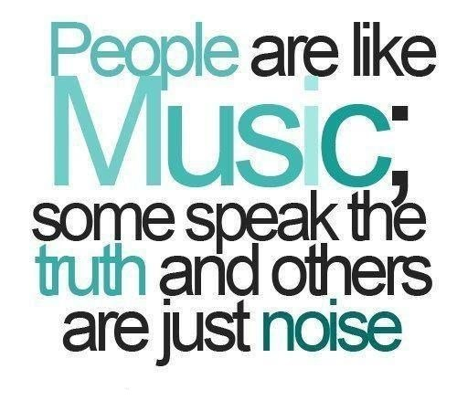 People and music quote