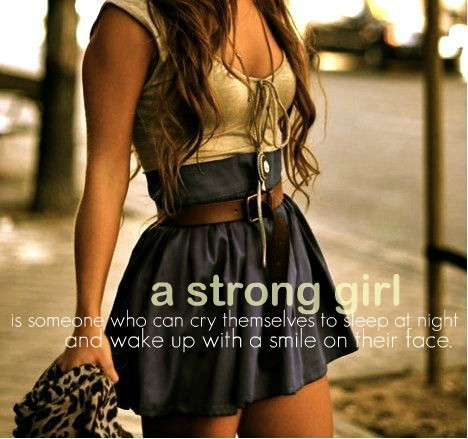 A Strong Girl | Quote Picture