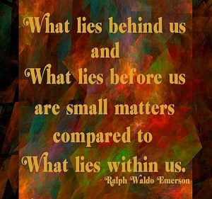 What Lies Before Us Are Small Matters