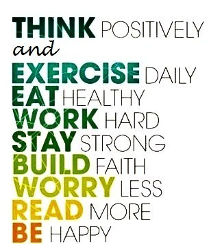 healthy happy life quote