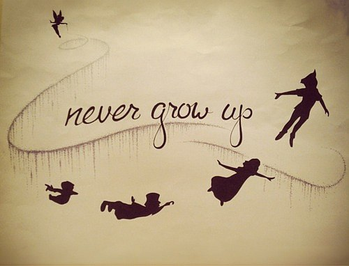Never grow quote