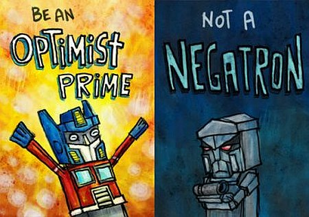 Optimist vs Negatron quote