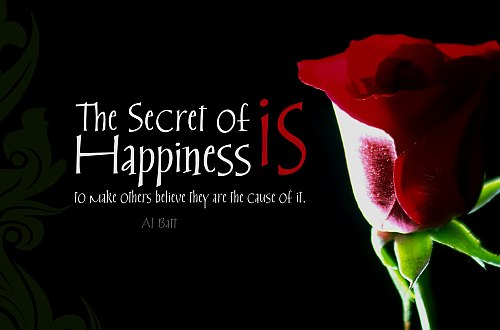 Secret of happiness quote