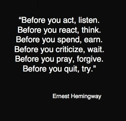Before you do something quote