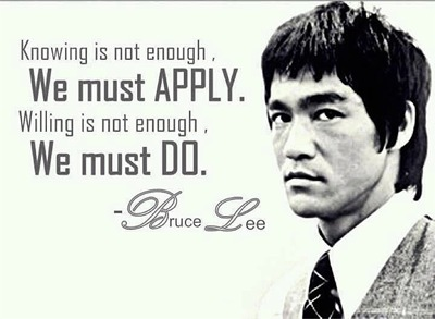 Bruce Lee saying about success