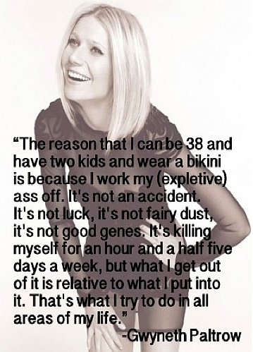 Gwyneth Paltrow saying