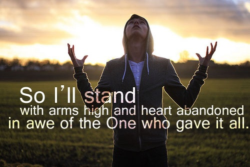 So I Will Stand With Arms High