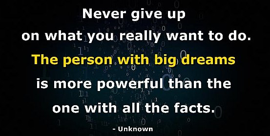 never give up unknown quote