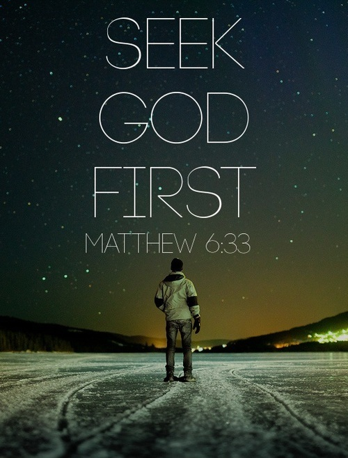 seek god first quote