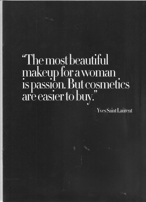 The Most Beautiful Make Up For A Woman Quote Picture