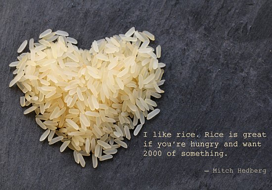 love rice food quote