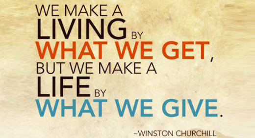 we make a living by Winston Churchill quote