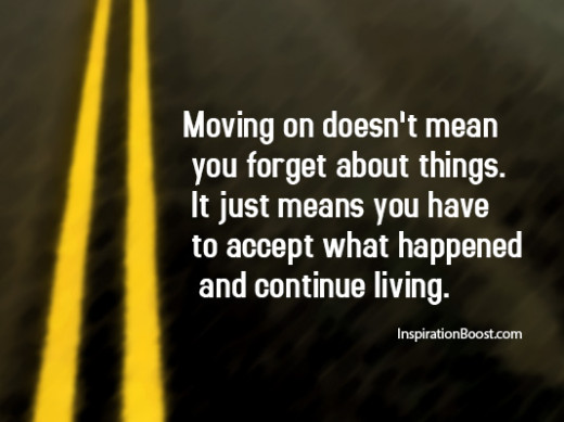 what is moving on quote