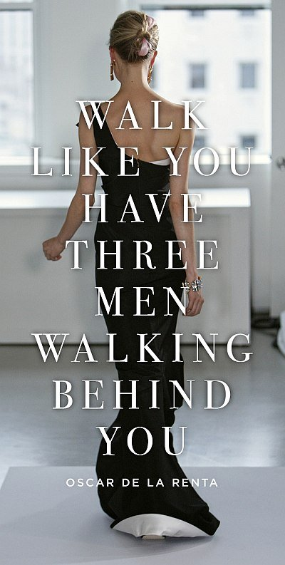 Walk Like You Have Three Men Walking Behind You