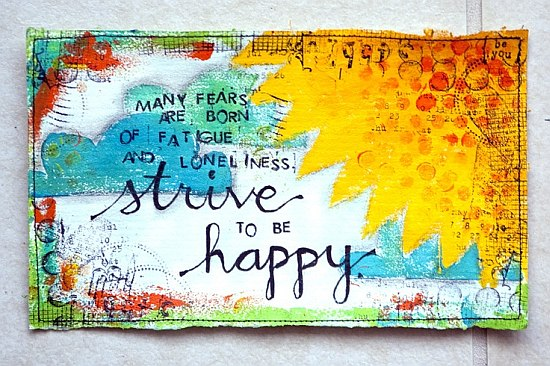 strive to be happy quote