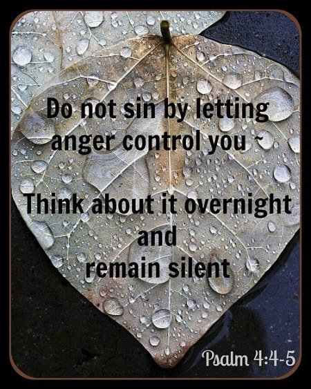 Don't Sin By Letting Anger Control You