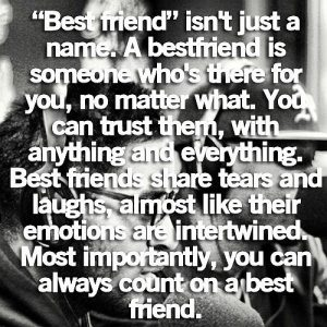 Best Friend Is Not Just A Name