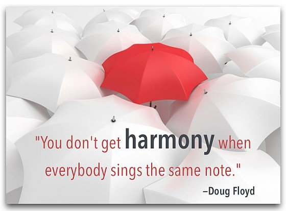 harmony singing note Doug Floud quote