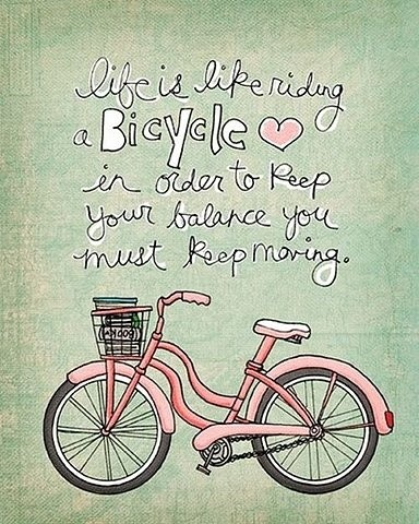 life is as bike saying