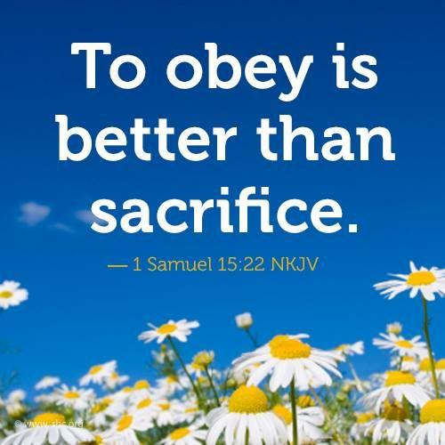obey sacrifice saying