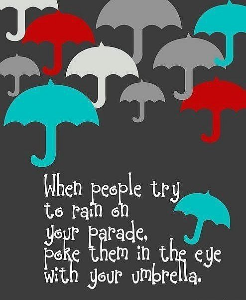 people umbrella rain quote