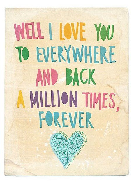 I love you one million times quote
