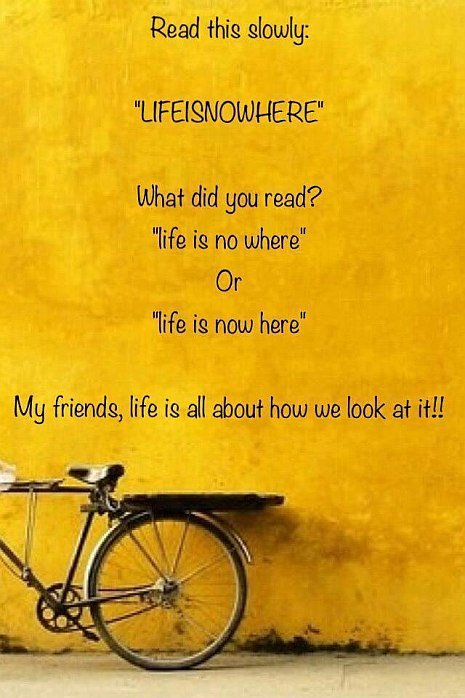 read this- life saying