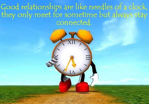 relationships clock saying