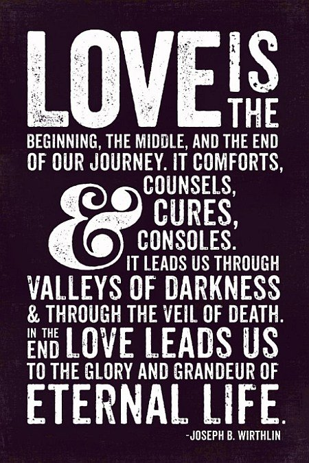 Love Is The Beginning, The Middle, And The End Of Our Journey