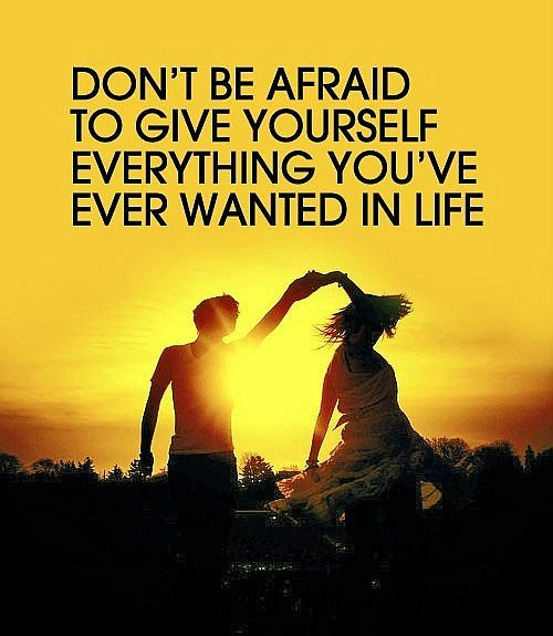 Dont be afraid Quote
