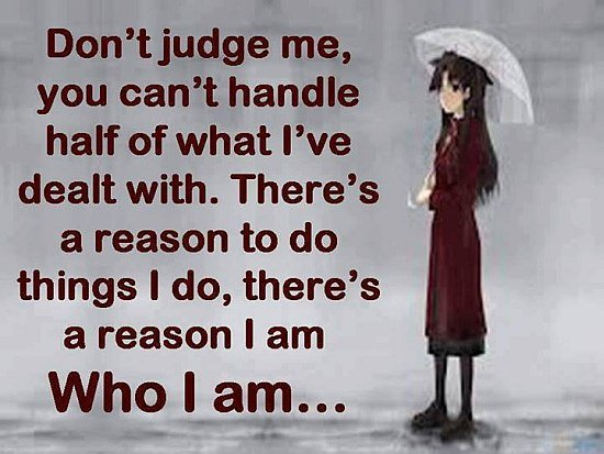 Dont judge me Quote
