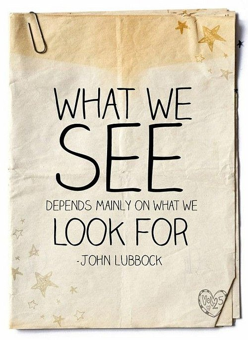 What we see quote picture