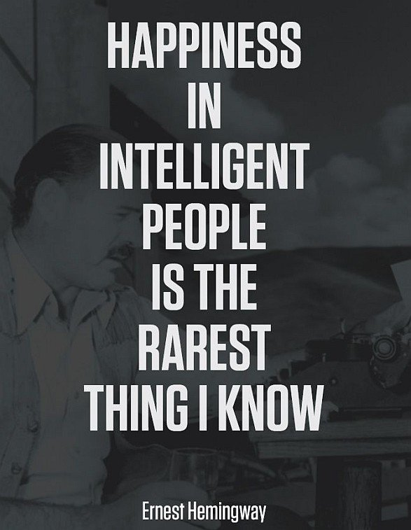 Intellignet People & Happiness