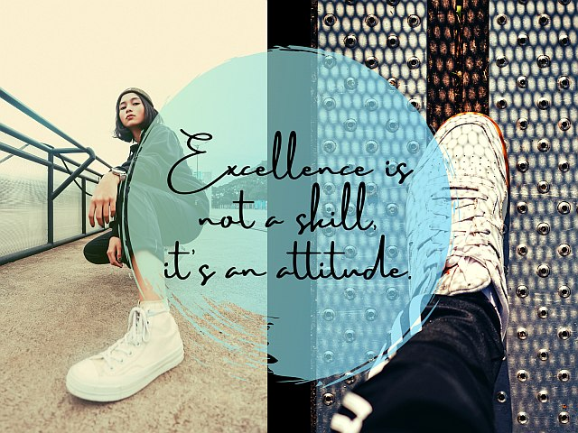 Excellence is not a skill, it's an attitude quote