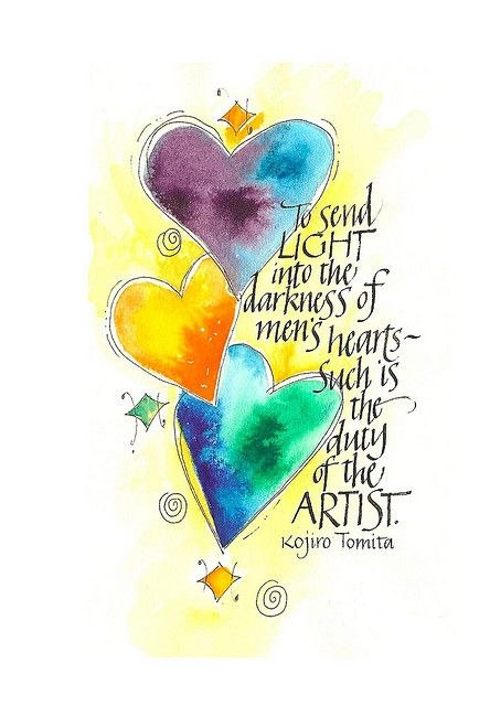 mens heart artist quote